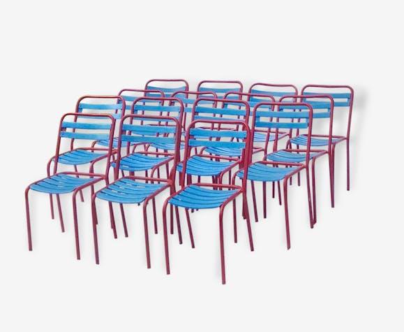 modèle Chaises industriel T2 multicolore Tolix métal 3A54LRj