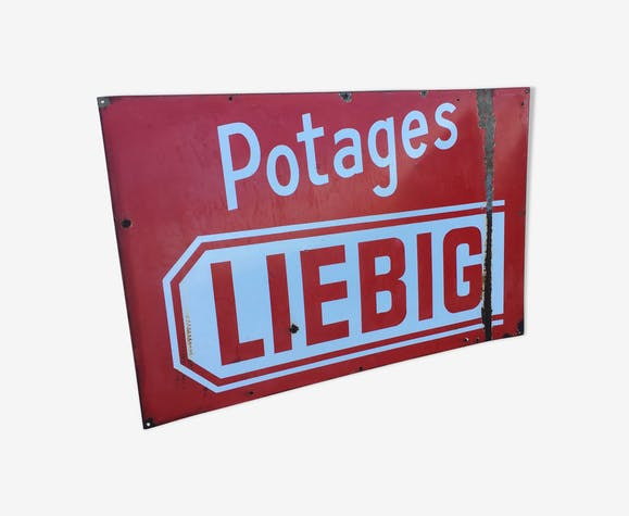 ancienne plaque publicitaire liebig t le maill e rouge vintage 5jyqiev. Black Bedroom Furniture Sets. Home Design Ideas