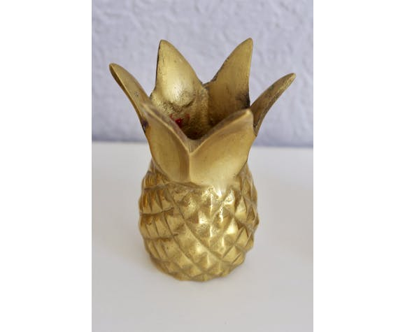 Pineapple brass candlesticks