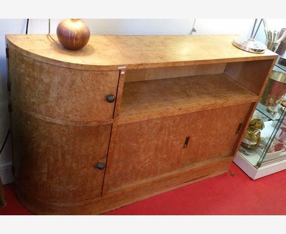 Art Deco Meuble Bar Bibliotheque Loupe D Orme Wood Art Deco