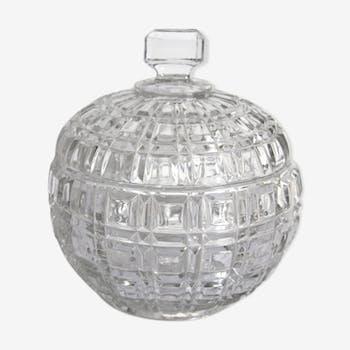 Bonbonnière ancienne en cristal Portieux