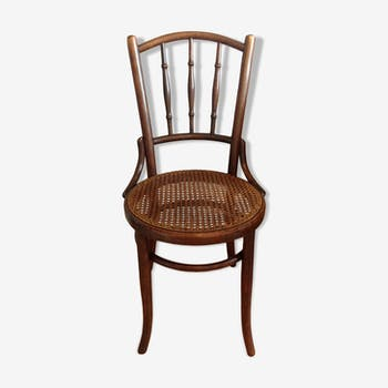 Fischel bistro chair with cyear-seating / vintage 20-40s