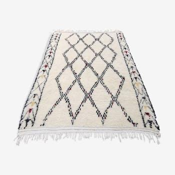 Tapis Beni Ouarain neuf en laine fait main 270x185 cm