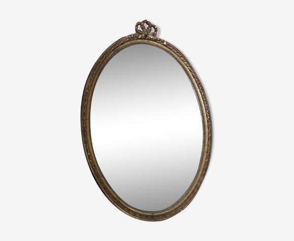 Ancient oval mirror 32x45cm