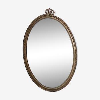 Miroir ovale ancien 32x45cm