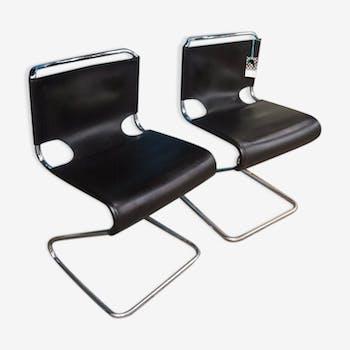Lot de 2 chaises Biscia de P. Mourgue des années 60 éditeur Steiner