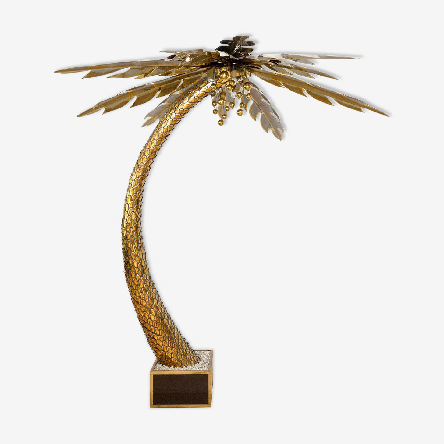 Brass palm floor lamp from Maison Jansen 1970