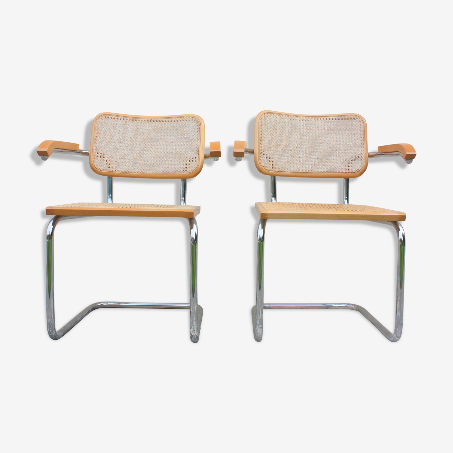 2 armchairs B 64 Marcel Breuer made in Italy