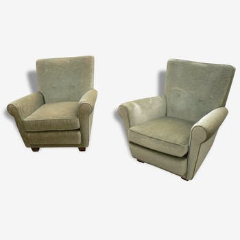 Pair of vintage velvet chairs