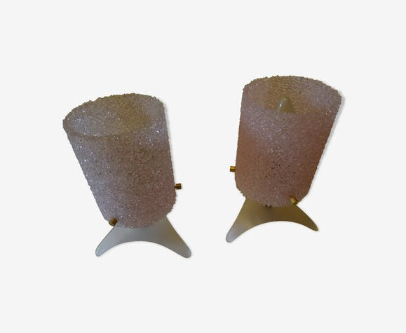 Duo of lamps in plexiglas 50/60