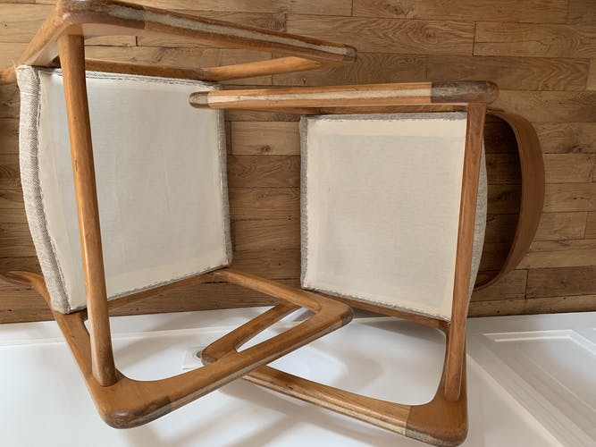 Paire de chaises Baumann traineau Bemol
