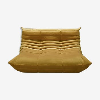 Sofa 2 places velvet by Michel Ducaroy for Ligne Roset Togo