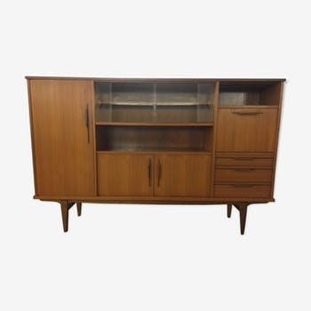 High teak and walnut sideboard 1960