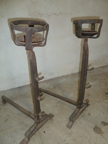 Pair of wrought steel channels