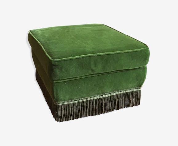 Ottoman in green velvet