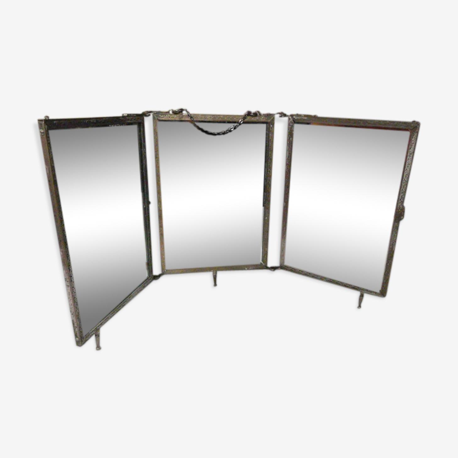 Miroir triptyque avec chainette
