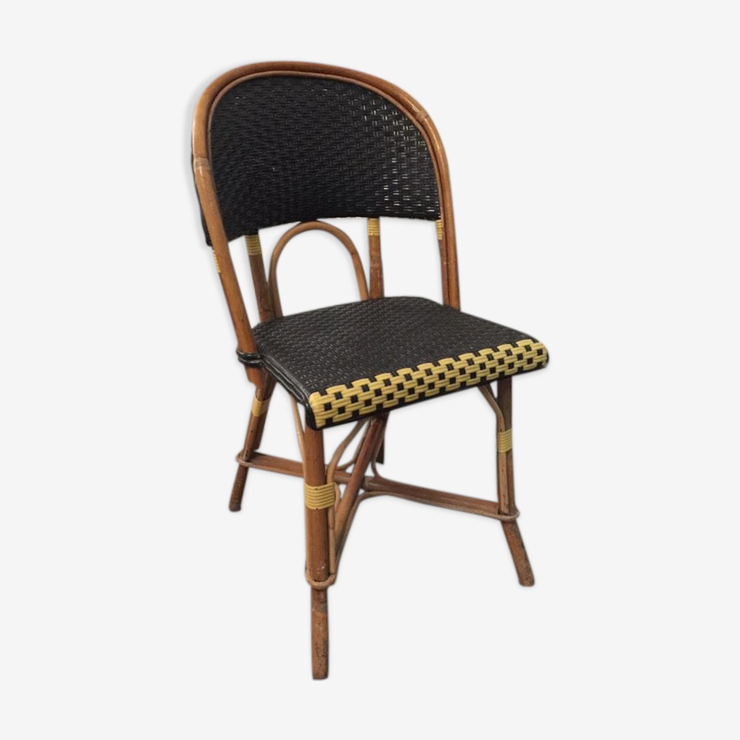 Chair in rattan and wicker Maison Gatti