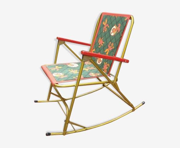 Chaise pliante rocking chair enfants vintage