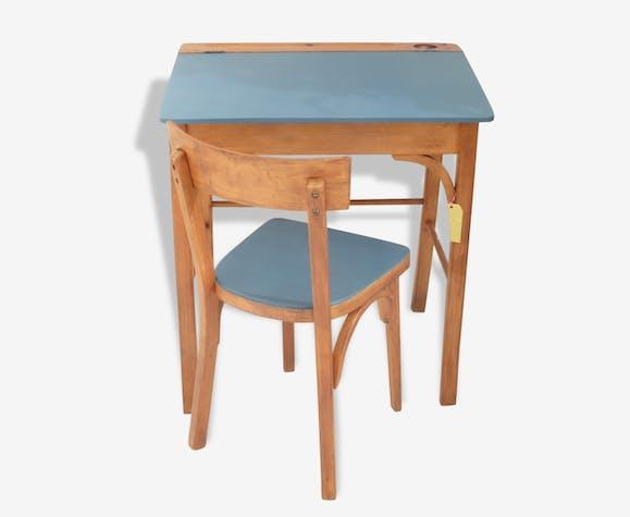 ensemble bureau et chaise pour enfant estampill baumann. Black Bedroom Furniture Sets. Home Design Ideas
