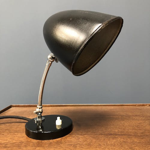 Small Bauhaus desk lamp or night light from the 1940s