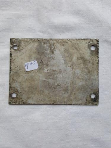 Plaque métallique signalétique train avion sécurité alarme multilangue