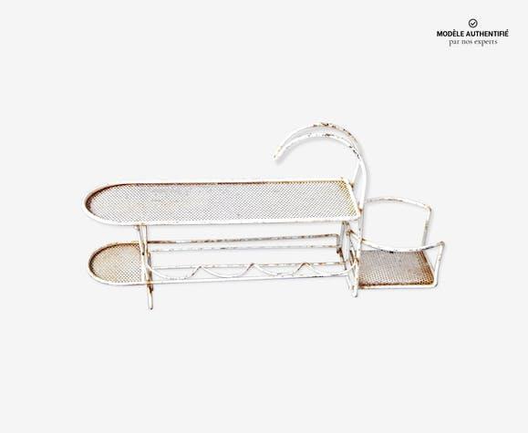 Serviteur porte bouteille 45cm tole perforée par Mathieu Matégot 1950