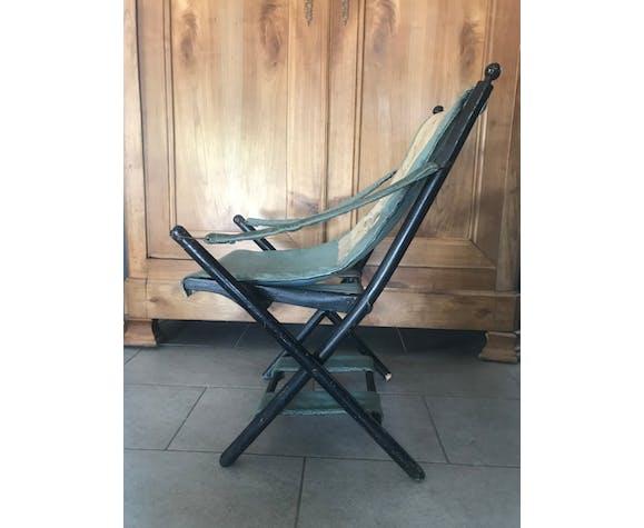 Chaise pliante enfant en tissus et bois