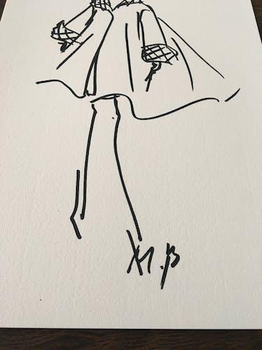 Christian Dior,  illustration de mode de presse collection 1987/1988