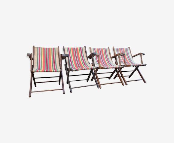 Ensemble de 4 fauteuils de jardin des années 50 de belle qualité ...