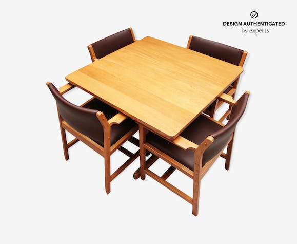 Danish Dining Table And Armchairs Model Bm73 By Borge Mogensen Selency