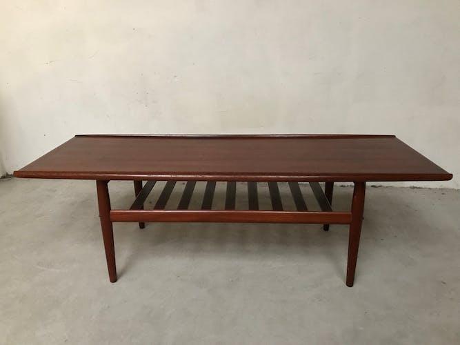 Grete Jalk coffee table for Poul Jeppesens in teak