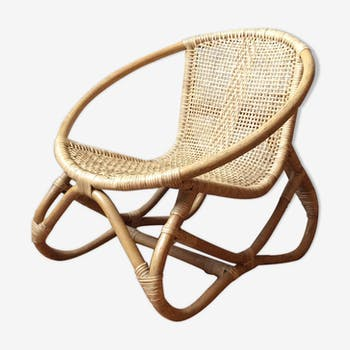 Wicker and rattan child armchair 50