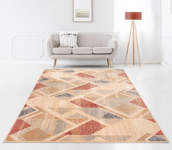 Tapis design coloré en laine 200x300 cm