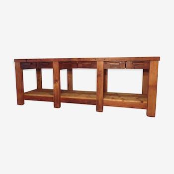 Ancien établi meuble de métier