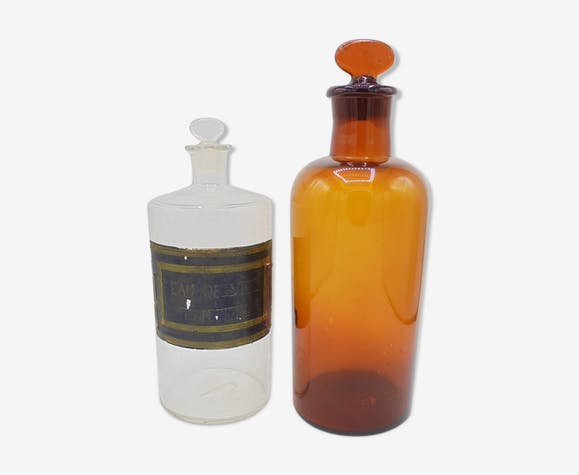 Duo of Apothecary Flasks