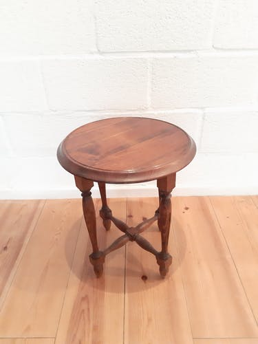 Table d'appoint guéridon en bois