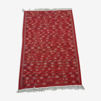 Tapis berbère rouge fait à la main en laine 130x200cm