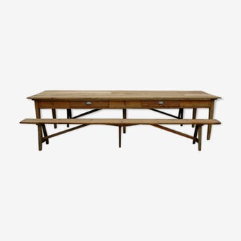 Table de salle manger vintage d 39 occasion for Table en chene brut