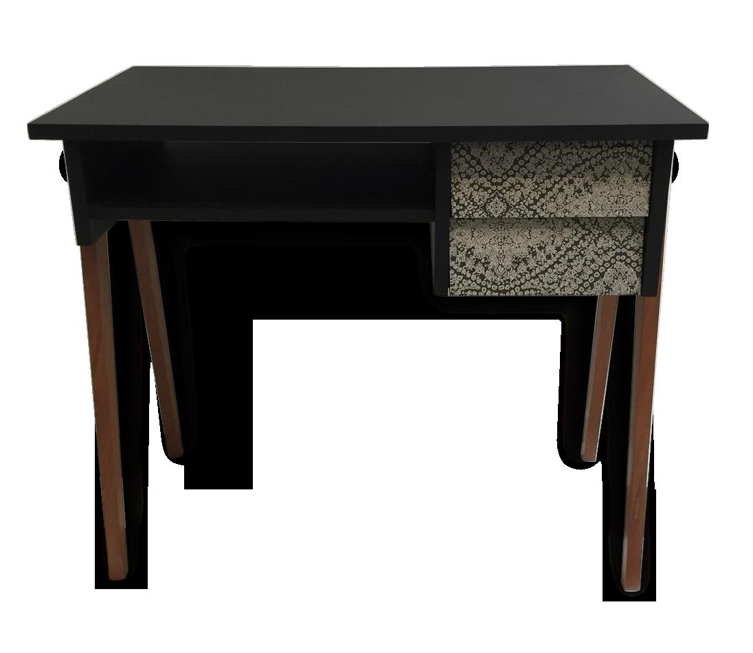 Bureau scandinave bois matériau noir scandinave