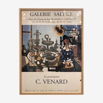 Poster of the exhibition Claude Venard