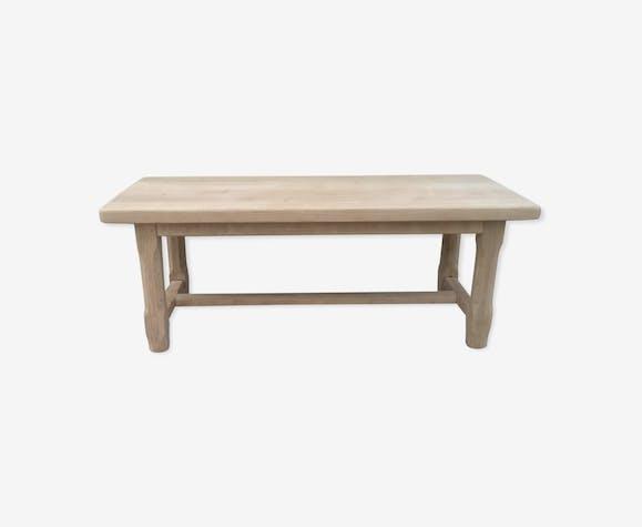 Table de ferme en chêne massif un tiroir bois brut