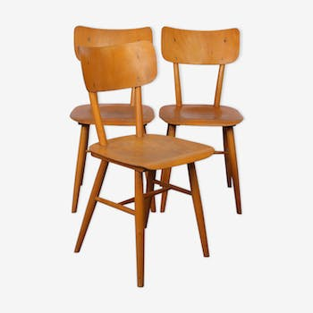 Set of 3 vintage chairs from Eastern Europe, 1960