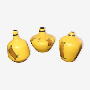Set de 3 céramiques