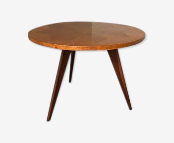Table basse vintage tripode années 50