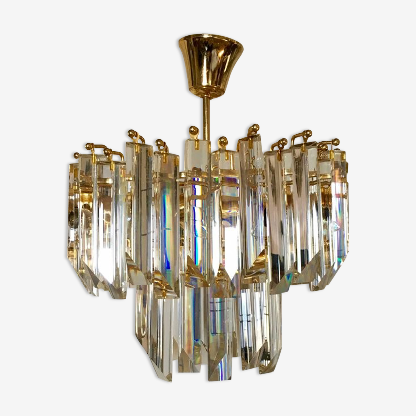 Paolo Venini 1960 crystal chandelier