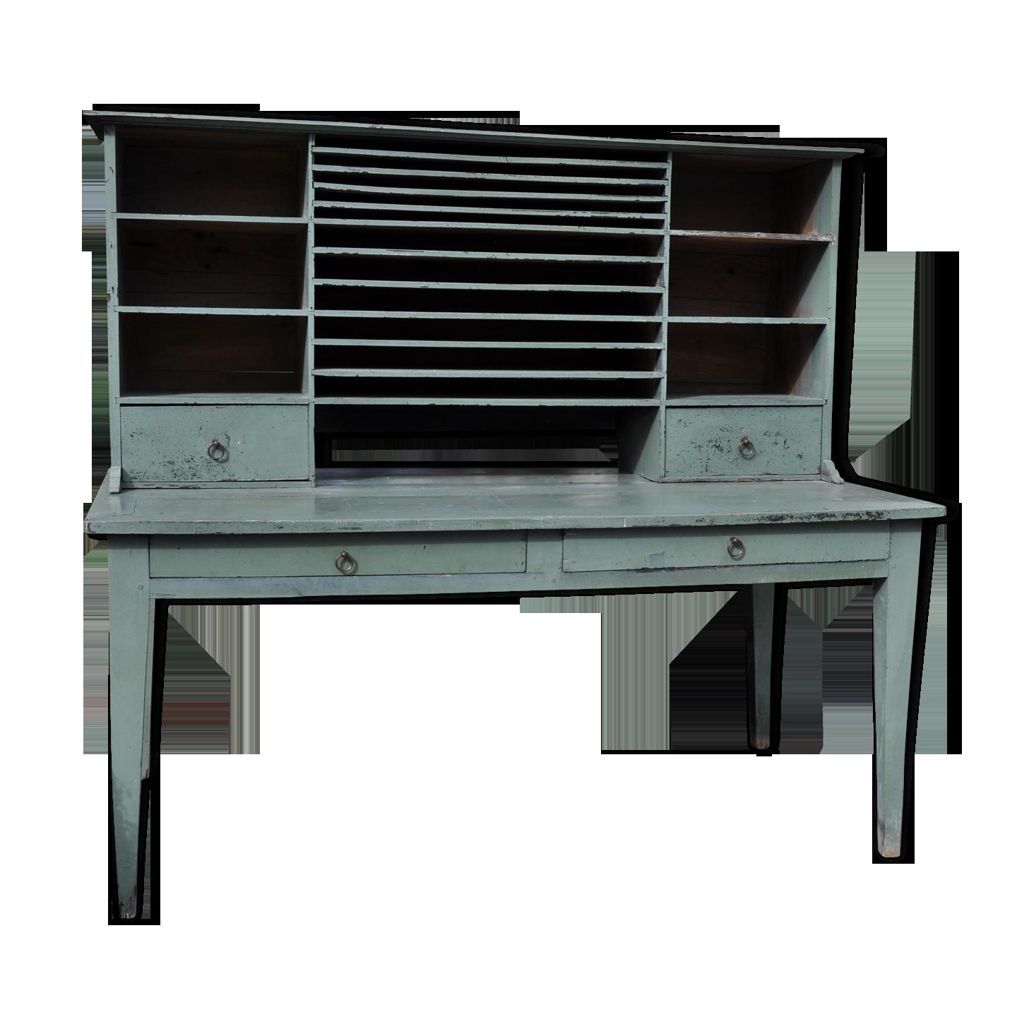 Meuble de métier bois matériau vert vintage ji ob s