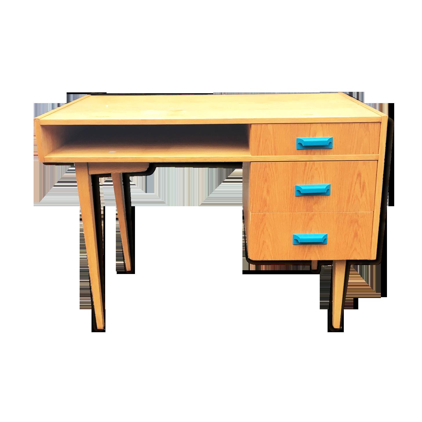 Bureau en bois scandinave vintage bois matériau bois