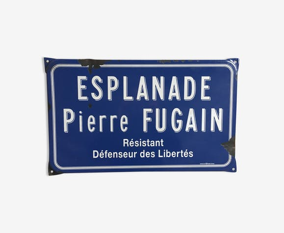 Old enamel street sign
