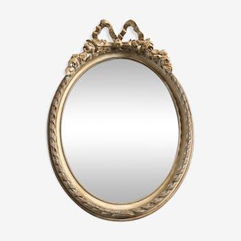 Miroir médaillon 52 x 37,5 cm