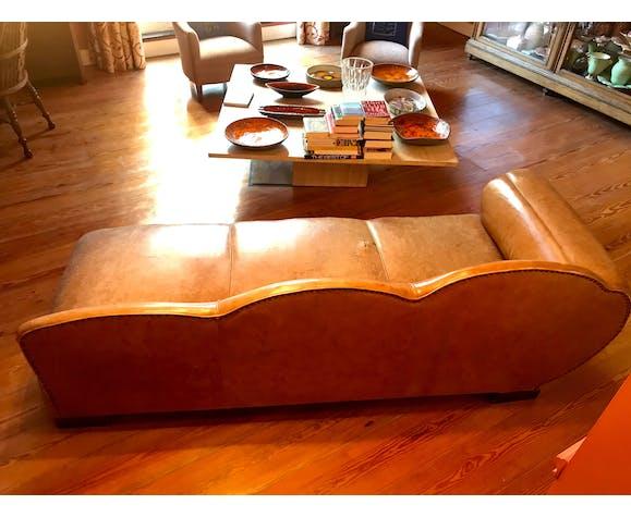 Canapé en cuir Art déco